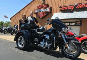 Dave and Tammy and their new Tri-Glide!