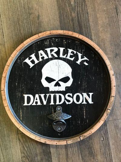Harley-Davidson® Wooden Bottle-Opener Bar Sign