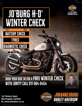 Winter Bike Check at Jo'burg Harley