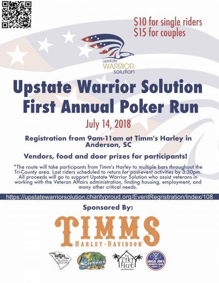 Upstate Warrior Solution 1st Annual Poker Run