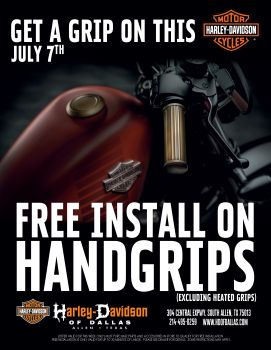 Free Install On Hand Grips!