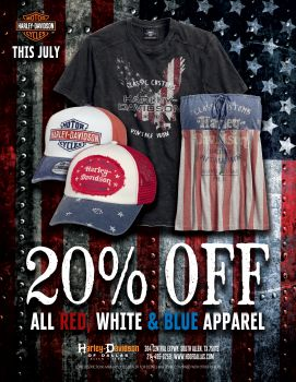 RED, WHITE, AND BLUE APPAREL!