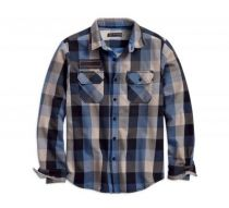 Eagle Patch Plaid Slim Fit Shirt