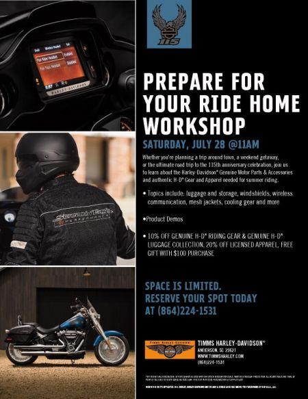 Prepare For Your Ride Home Workshop