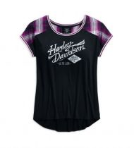 Women's Plaid Accent Tee