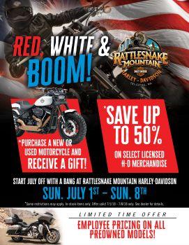 Red , White & Boom | Rattlesnake Mountain Harley-Davidson®
