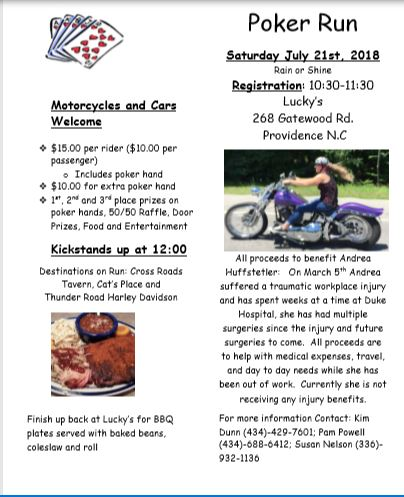 Poker Run for Andrea