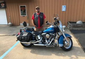 Shae and his Heritage Softail Classic!