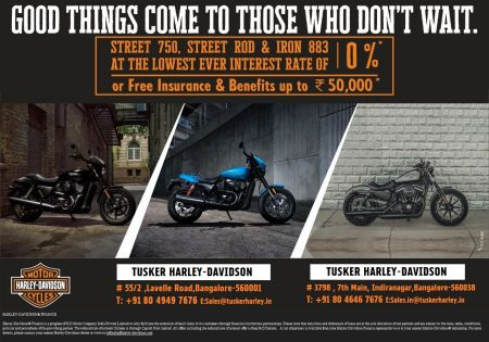 LIMITED PERIOD FESTIVAL OFFERS FROM TUSKER HARLEY-DAVIDSON