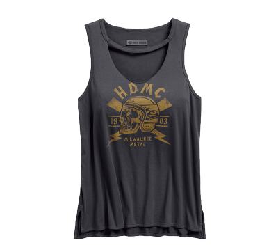 Ladies Skull Lightning Tank