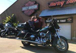 The Kaminskis on their CVO!