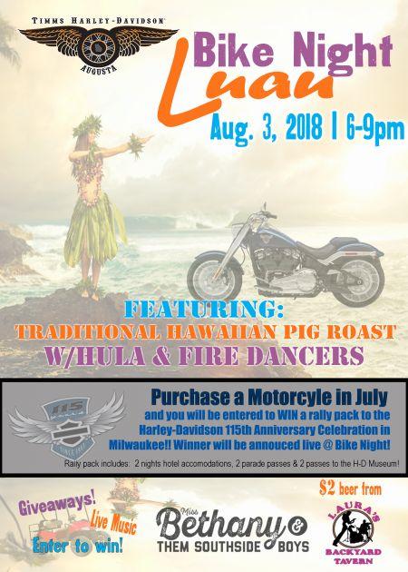 Luau Bike Night