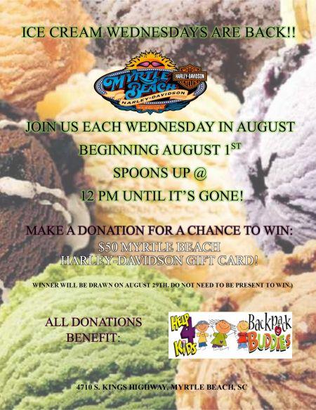 Ice Cream Wednesdays!