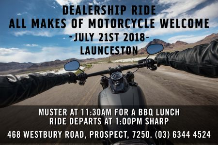 Monthly Dealership Ride - Launceston