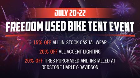 FREEDOM USED BIKE TENT EVENT