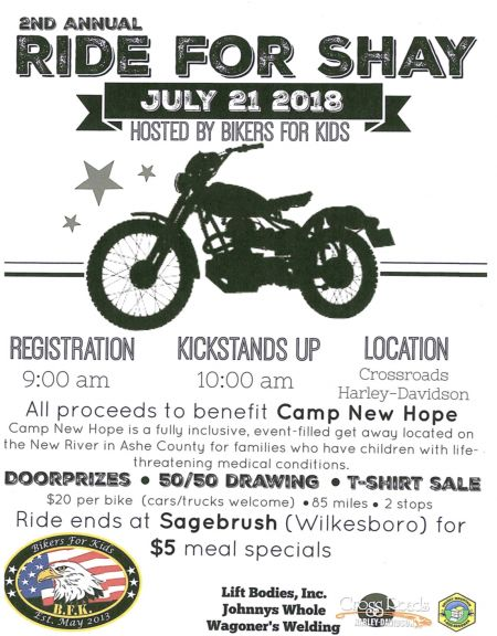 2nd Annual Ride for Shay