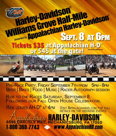 Harley-Davidson Half-Mile at Williams Grove Speedway