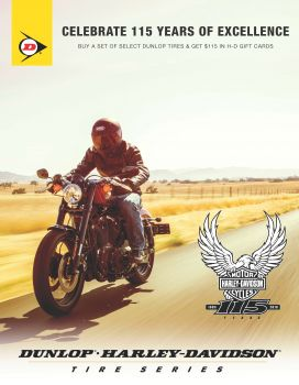 H-D Dunlop 115 -- Save on Motorcycle Tires Near Dallas!