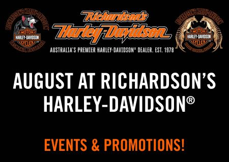 August at Richardson's Harley-Davidson