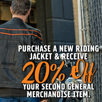 20% OFF SECOND ITEM WITH JACKET PURCHASE