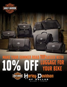 10% off Luggage in the month of August!