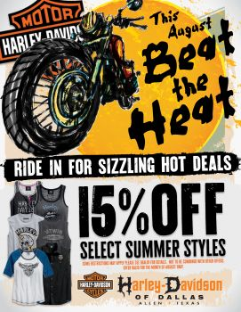 15% off select Summer styles!