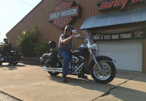 Dave has waited 63 years to own a Harley-Davidson motorcycle!