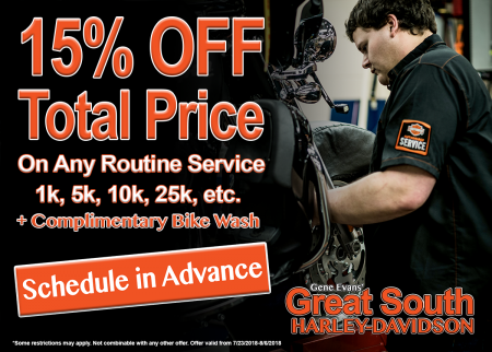 15% Off Total Price on Routine Service
