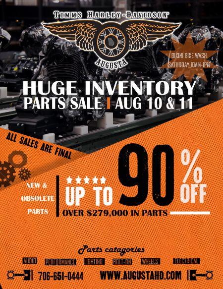Parts Sale & Bikini Bike Wash