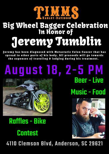 Big Wheel Bagger Celebration In Honor of Jeremy Tumblin