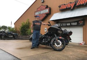 Dave and his new Road Glide Custom CVO!