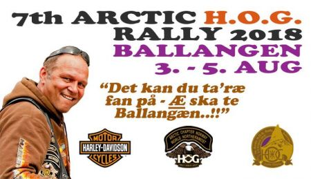 7th Arctic H.O.G. Rally 2018, Ballangen 3. - 5. August 2018