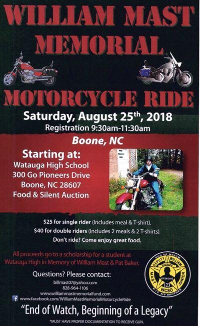 William Mast Memorial Motorcycle Ride