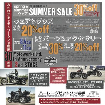 *** Motoworks 30th anniversary 2nd stage ***