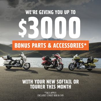 We're Giving You Up To $3,000 Worth Of Bonus Parts & Accessories*