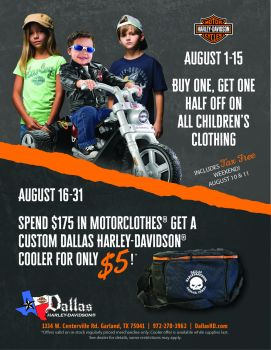 August MotorClothes Specials