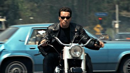 The motorcycle Arnold stole in 'Terminator 2' sold for nearly $500K