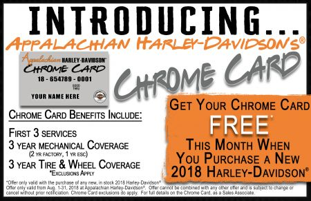 share chrome card appalachian harley davidsons
