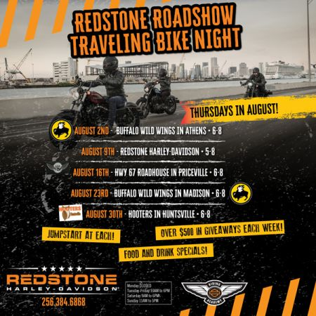 Redstone Roadshow Traveling Bike Night - HWY 67 Roadhouse