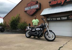 Jeremy and his Dyna Street Bob!