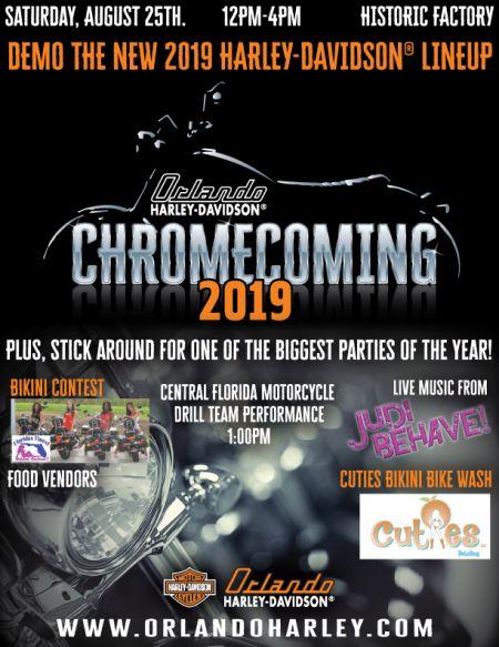 Chrome Coming 2019 at Orlando Harley-Davidson Historic Factory