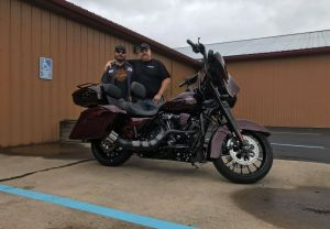 Jamie and his new Street Glide!