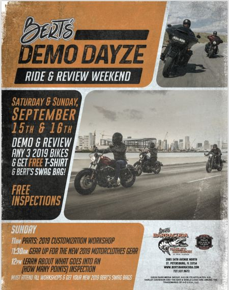 Bert's Demo Dayze Ride & Review Weekend
