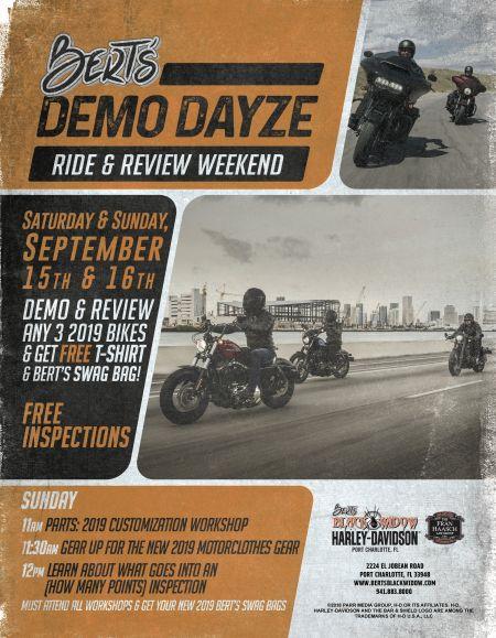 Bert's DEMO DAYZE Ride & Review Weekend