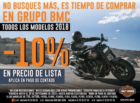 Todos los modelos 2018 -10% en Precio de Lista
