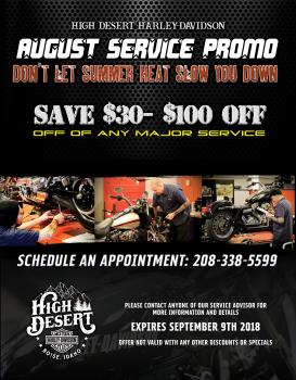 August Service Promo