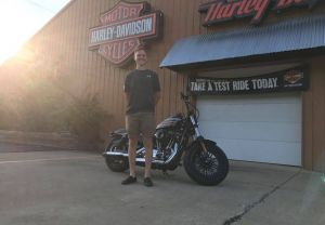 Josh and his new Sportster Forty-Eight Special!
