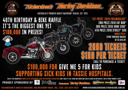 40th Birthday & Bike Raffle Draw!