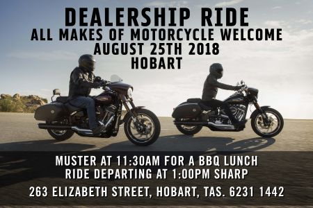 August Dealership Ride - Hobart