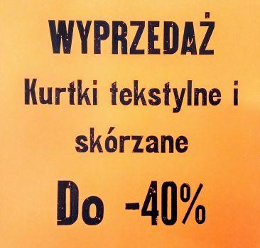 Wielka Sezonowa Wyprz!! DO -40%  =D